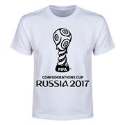 FIFA Confederations Cup Russia 2017 Event Emblem Youth T-Shirt (White)