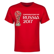 FIFA Confederations Cup Russia 2017 Event Emblem Youth T-Shirt (Red)