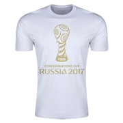 FIFA Confederations Cup Russia 2017 Event Emblem Men's T-Shirt (White)