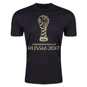 FIFA Confederations Cup Russia 2017 Event Emblem Men's T-Shirt (Black)