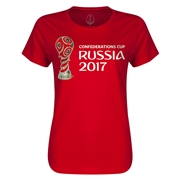 FIFA Confederations Cup Russia 2017 Event Emblem Women's T-Shirt (Red)