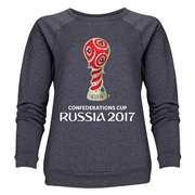FIFA Confederations Cup Russia 2017 Event Emblem Women's Crewneck Fleece (Dark Grey)