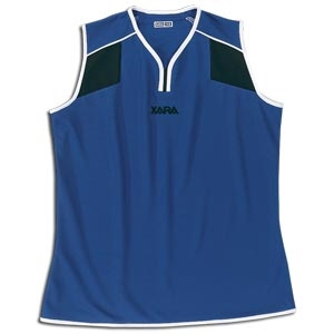 Xara Women's Preston Sleeveless Soccer Jersey (Roy/Blk)