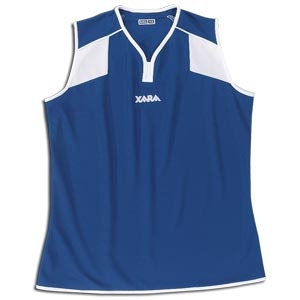 Xara Women's Preston Sleeveless Soccer Jersey (Royal)