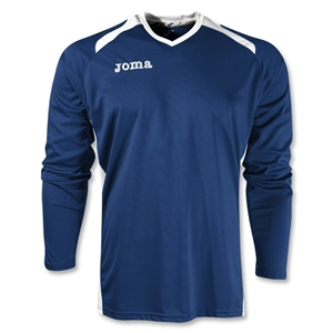 Joma Champion II Long Sleeve Jersey (Navy/White)