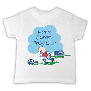 Here Comes Trouble T-Shirt (White)