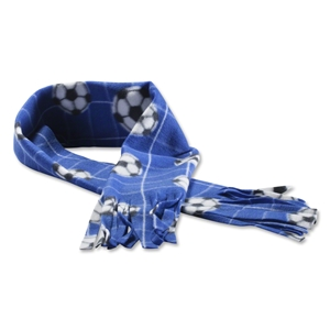 Soccer Ball Fleece Scarf (Royal)