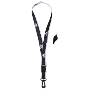adidas Coach's Lanyard and Whistle (Black)