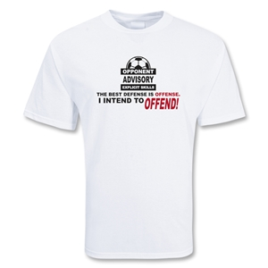 Intend To Offend Soccer T-Shirt (White)
