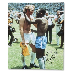 ICONS Pele and Bobby Moore WC 1970 Photo