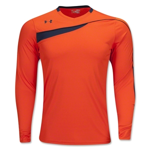 Under Armour Horizontal Long Sleeve Goalkeeper Jersey (Orange)