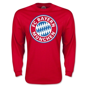 Bayern Munich Logo LS T-Shirt (Red)