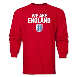 England We Are LS T-Shirt (Red)