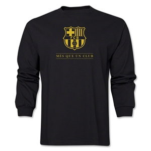 Barcelona Mes Que Un Club LS T-Shirt (Black)