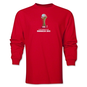 FIFA Club World Cup Morocco 2013 Official Emblem LS T-Shirt (Red)
