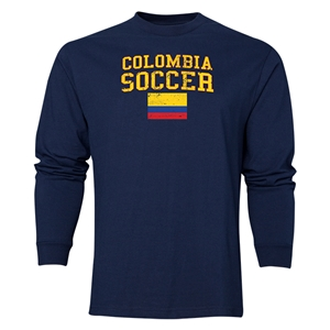 Colombia LS Soccer T-Shirt (Navy)