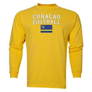 Curacao LS Football T-Shirt (Yellow)