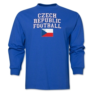 Czech Republic LS Football T-Shirt (Royal)