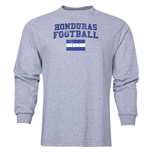 Honduras LS Football T-Shirt (Grey)