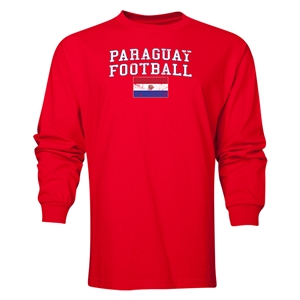 Paraguay LS Football T-Shirt (Red)