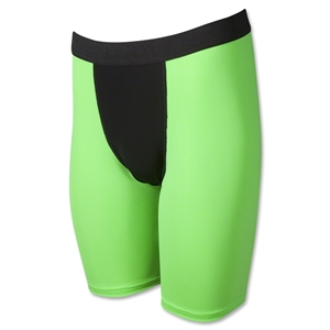 Two-Tone Compression Shorts-7 Inseam (Neon Green)