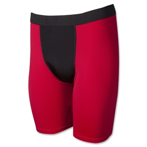 Two-Tone Compression Shorts-7 Inseam (Red/Blk)