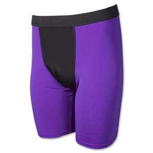 Men's Two-Tone Compression Short-9 Inseam (Pur/Blk)