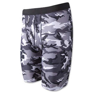 Men's Camouflage Compression Short-7 Inseam (Blk/Wht)