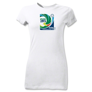 FIFA Confederations Cup 2013 Junior Women's Emblem T-Shirt (White)