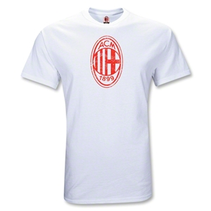 AC Milan Distressed Logo Youth T-Shirt (White)