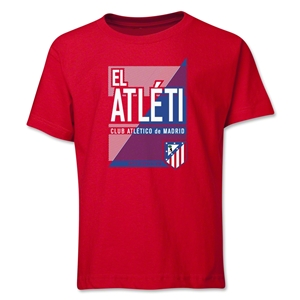 Atletico Madrid El Atleti Youth T-Shirt (Red)