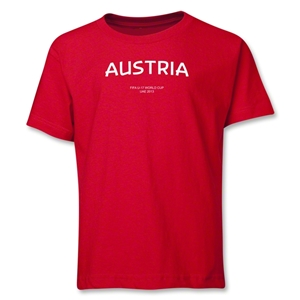 Austria 2013 FIFA U-17 World Cup UAE Youth T-Shirt (Red)