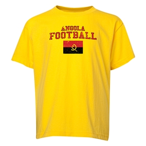 Angola Youth Football T-Shirt (Yellow)