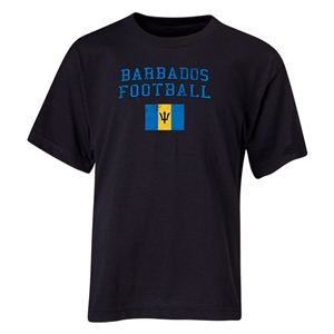 Barbados Youth Football T-Shirt (Black)