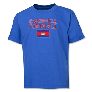 Cambodia Youth Football T-Shirt (Royal)