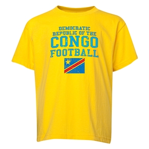 Congo DR Youth Football T-Shirt (Yellow)