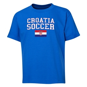 Croatia Youth Soccer T-Shirt (Royal)