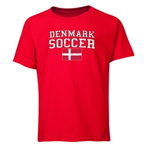 Denmark Youth Soccer T-Shirt (Red)