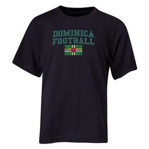 Dominica Youth Football T-Shirt (Black)