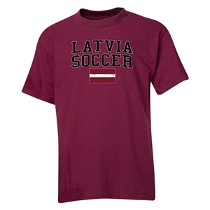 Latvia Youth Soccer T-Shirt (Maroon)