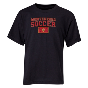 Montenegro Youth Soccer T-Shirt (Black)