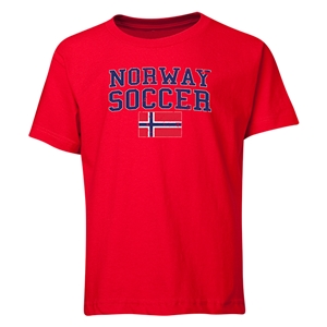Norway Youth Soccer T-Shirt (Red)