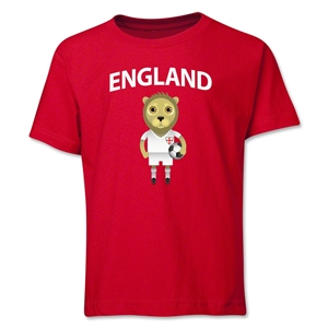 England Animal Mascot Youth T-Shirt (Red)