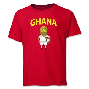 Ghana Animal Mascot Youth T-Shirt (Red)