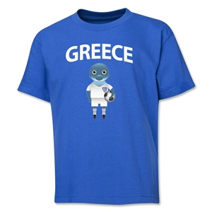 Greece Animal Mascot Youth T-Shirt (Royal)