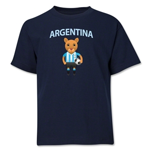 Argentina Animal Mascot Youth T-Shirt (Red)