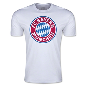 Bayern Munich Logo Men's Fashion T-Shirt (White)