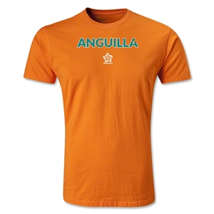Anguila CONCACAF Distressed Men's Fashion T-Shirt (Orange)