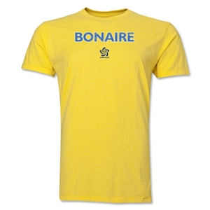 Bonaire CONCACAF Distressed Men's Fashion T-Shirt (Yellow)
