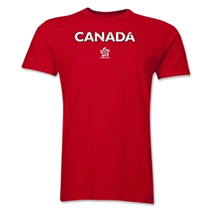 Canada CONCACAF Distressed Men's Fashion T-Shirt (Red)